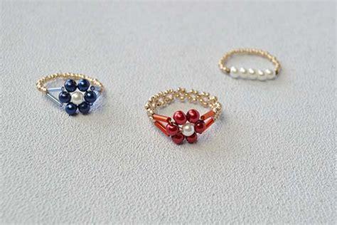 beaded rings beaded flower rings family crafts