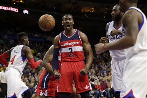 john wall bench press john wall blocks corey brewer at the rim nick johnson gets him back video