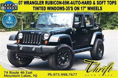 07 Jeep Rubicon For Sale Purchase Used 2008 Jeep Wrangler 4 Door Rubicon Unlimited