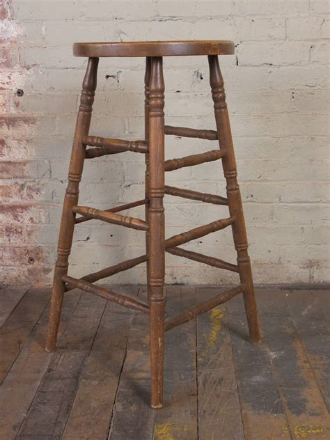 retro wooden stool vintage wooden bar stool for sale at 1stdibs