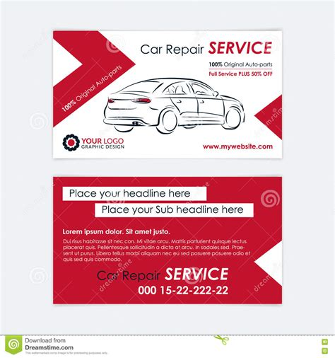 automotive workshop card template auto repair business card template create your own