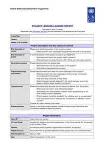 Sample Lessons Learned Report Lessons Learned Template Affordablecarecat