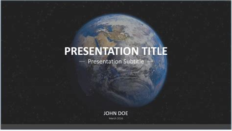 free earth from space powerpoint template 7606 sagefox