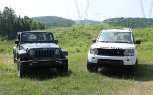 Jeep Vs Land Rover Jeep Wrangler Vs Land Rover Lr4 Mud Or Chagne