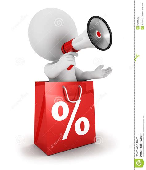 White Sale by 3d White Sale Announcement Stock Photography