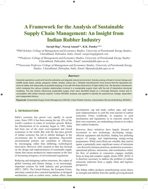 Green Supply Chain Literature Review by From Literature Review To A Conceptual Framework For Sustainable Supply Chain Management
