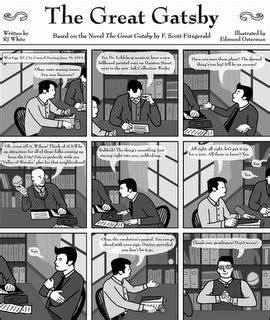 symbols of the great gatsby chapter 7 the great gatsby comic strip everything gatsby