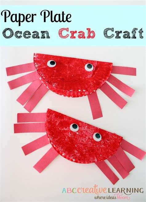 Simple Crafts With Paper Plates - easy paper plate crab craft for to celebrate