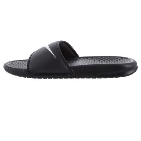 Nike Benassi Swoosh Nike nike benassi swoosh mens casual slides black white