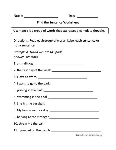 19 best images of sentence variety worksheet 1st grade