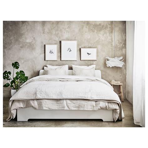 Ikea Bed Frame White Askvoll Bed Frame White Lur 246 Y Standard Ikea