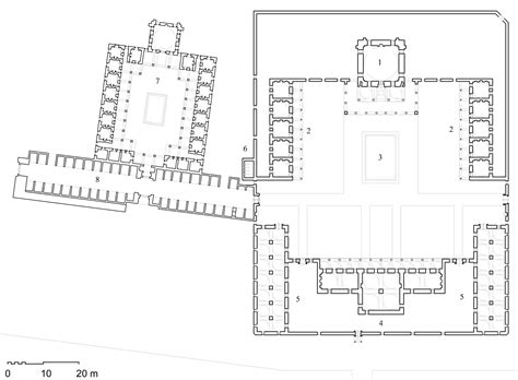 floor plan of mosque takiyya al sulaymaniyya floor plan of complex showing 1 mosque 2 guestrooms 3 ablution