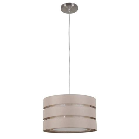 Shop Style Selections 16 8 In Khaki Linen Single Drum Drum Shade Pendant Light Lowes