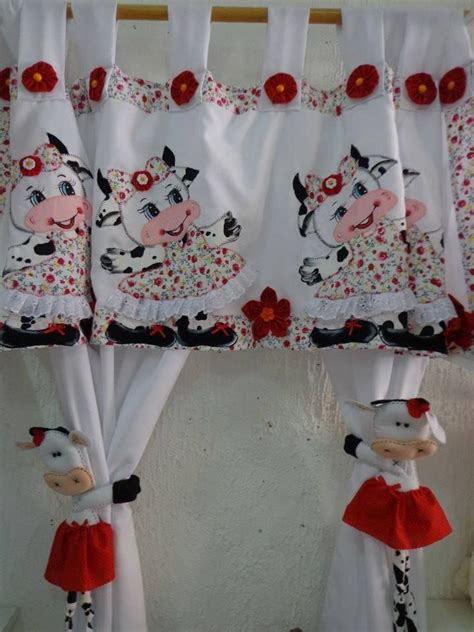 Cow Kitchen Curtains Cortinas De Vacas Vaquinhas Cow The Cow Ties And Cow