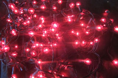120 red berry christmas lights decorations tree window