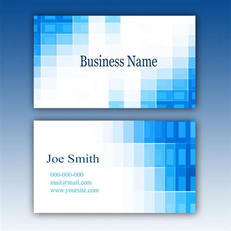 blue business card template psd file