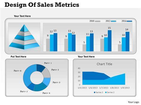 0414 business consulting diagram design of sales metrics