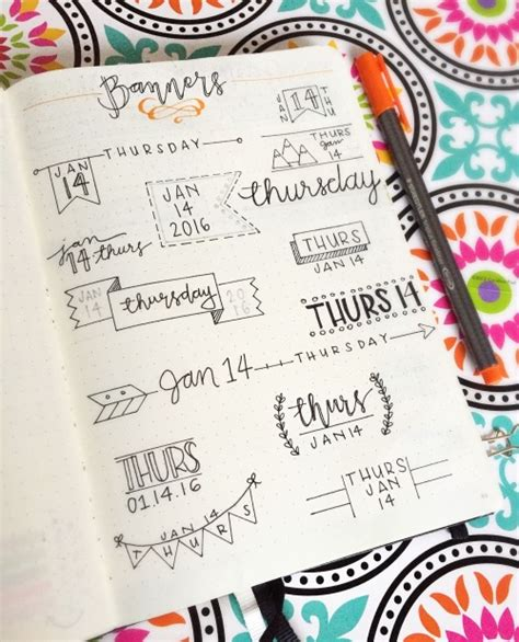 themes for tumblr banner bullet journal collection tumblr