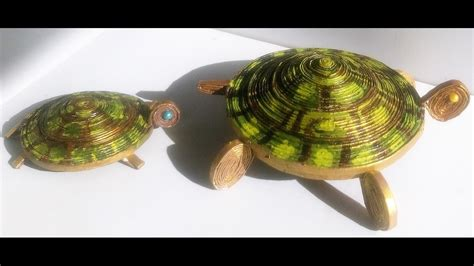 How To Make Tortoise With Paper - tortoise from news paper my crafts and diy projects
