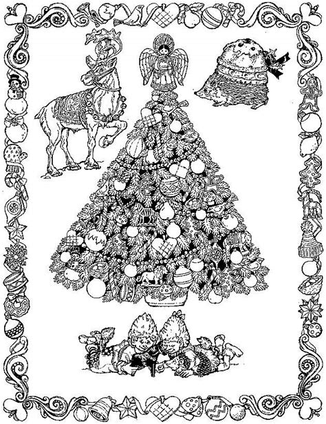 detailed tree coloring page christmas coloring cards design ideas 9 coloring kids
