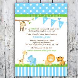 safari themed baby shower invitation templates safari baby shower invitations jungle animal theme printable