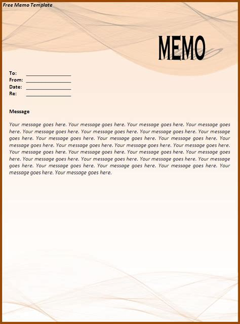 Memo Document Template Word Free Memo Templates