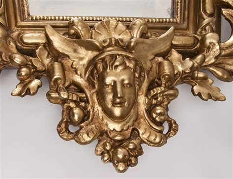 Mercury Baroque Made In Italy by Mid 19th C Italian Baroque Giltwood Carved Mirror From