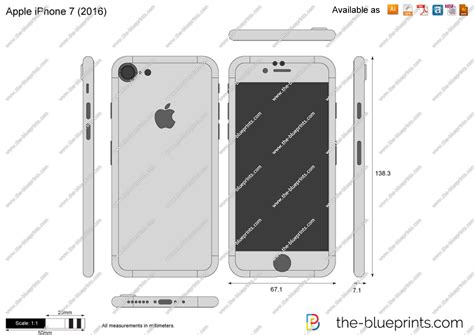 apple iphone  vector drawing