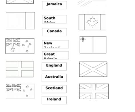 speaking countries flags coloring pages speaking countries flags