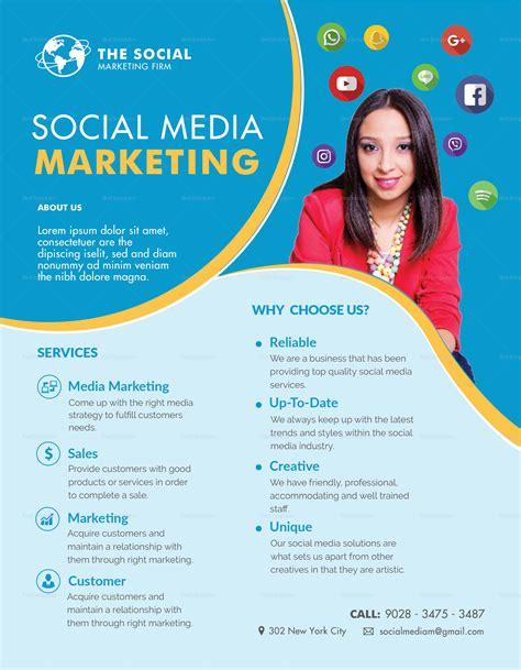Social Media Marketing Flyer Design Template In Psd Word Publisher Illustrator Indesign Social Flyer Word Template