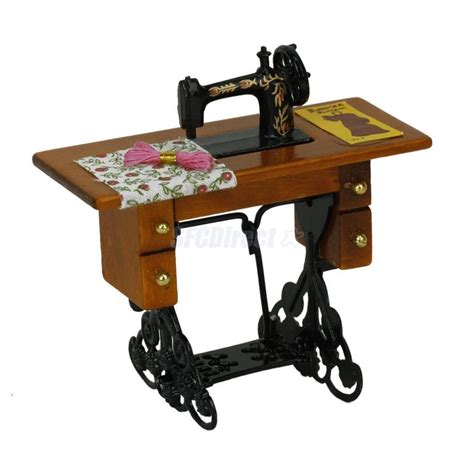 ebay doll house furniture vintage miniature furniture sewing machine for 1 12 scale dollhouse ebay