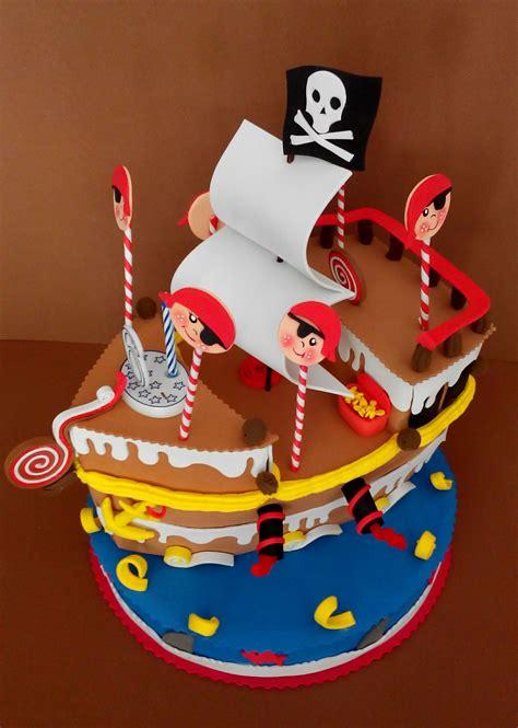 tarta barco pirata manualidades en goma eva pinterest - Barco Pirata Tarta