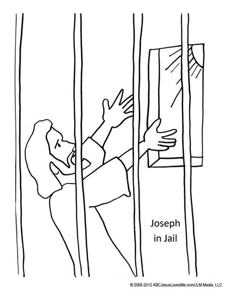 coloring pages of joseph in jail peter in prison coloring page coloring home