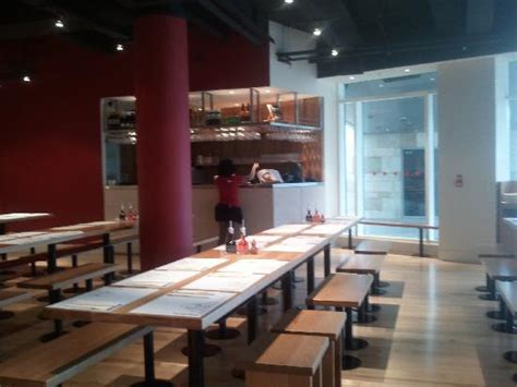 bench for restaurant bench seating picture of wagamama dundrum tripadvisor