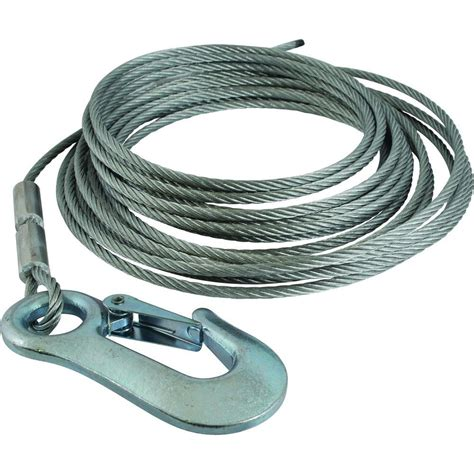 3 16 in winch cable replacement with hook 11003 5 the
