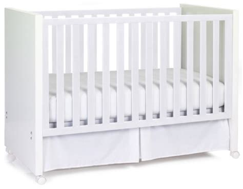 Crib History by Babi Italia Scandi Convertible Drop Side Crib White
