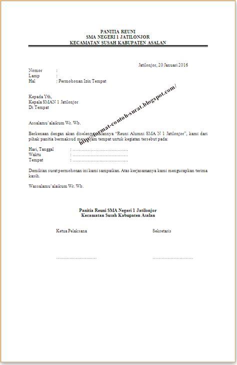 Contoh Surat Izin Tidak Masuk Sekolah Tulis Tangan by Contoh Surat Izin Menggunakan Gedung Sekolah