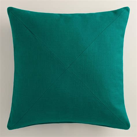 teal couch pillows teal herringbone cotton throw pillow world market