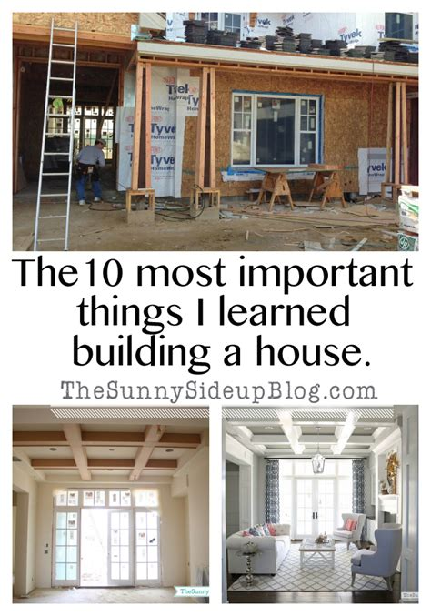 necessary things for house the 10 most important things i learned building a house