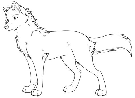 coloring pages of cute wolves wolf template animal templates free premium templates