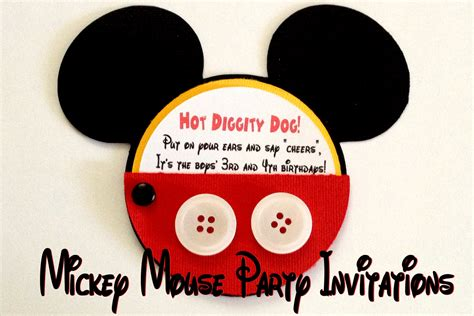 mickey mouse st birthday invitations great mickey mouse invitation