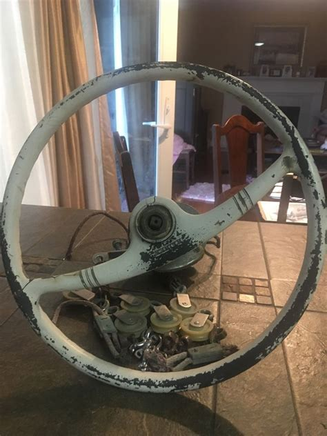 boat steering cable and wheel kainer vintage motor boat steering wheel w steering cable