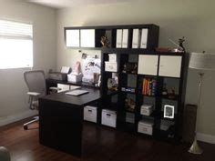 ikea home office com bing images position of desk and bookcases with shelves above desk