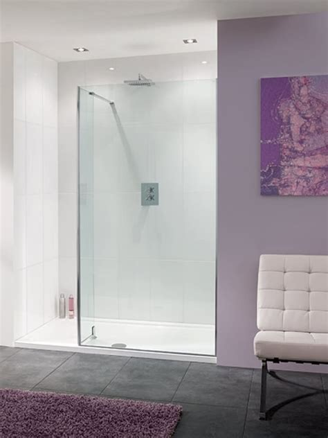 Lakes coastline 1700 x 900mm walk in shower enclosure with return amp tray