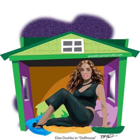 doll house cartoon portrait of eliza dushku in tvs dollhouse cartoon