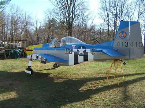 cessna loehle p mustang beautiful plane   rotax  blue head