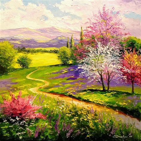 spring paint paintings by olha darchuk impressionism botanical