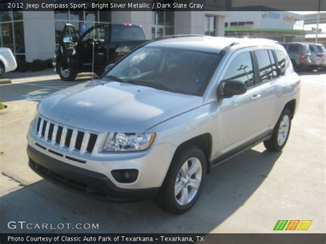 silver jeep compass bright silver metallic 2012 jeep compass sport