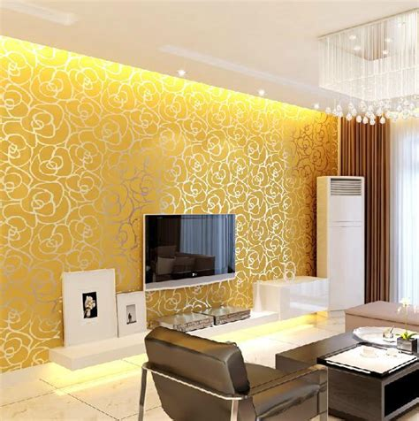 wallpaper for walls in vijayawada aliexpress com buy 10m roll modern damask flock velvet