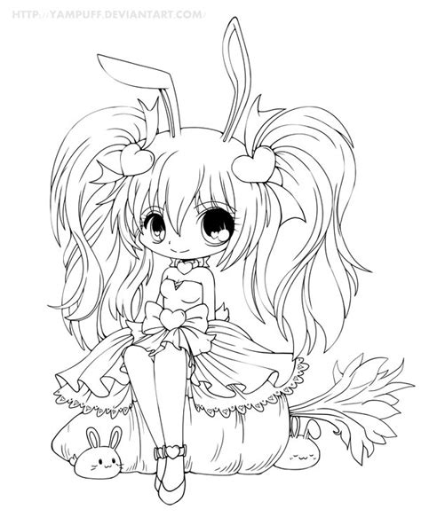 chibi bunny coloring pages cute anime bunny by cutiepiegirl95 on deviantart